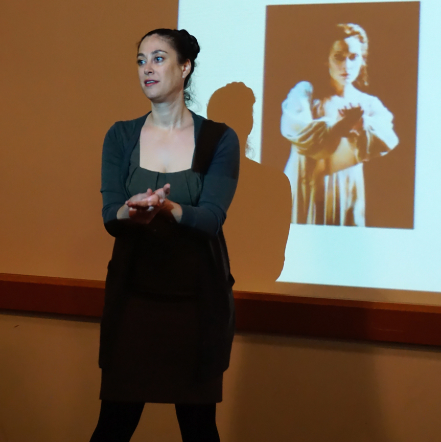 Avila Reese discussed performance and practice, feminity and power in contemporary representations of Medea and Lady Macbeth. Credit: Patricia Marroquin