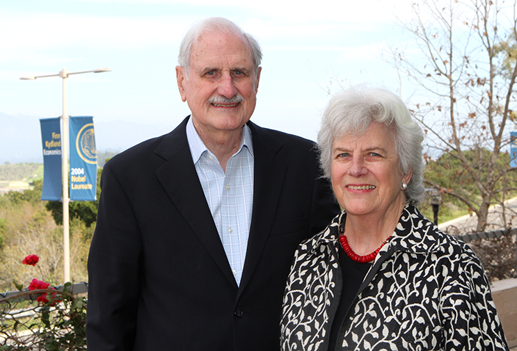 Duncan and Suzanne Mellichamp will celebrate 55 years of marriage this year. Photo courtesy of UC Santa Barbara