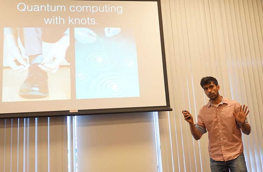 Kaushal Patel spoke about the dawn of quantum computing. Credit: Patricia Marroquin