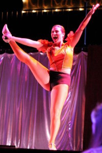 Selvi in Cabaret. She can still do that kick. Photo courtesy of Selvi Ersoy