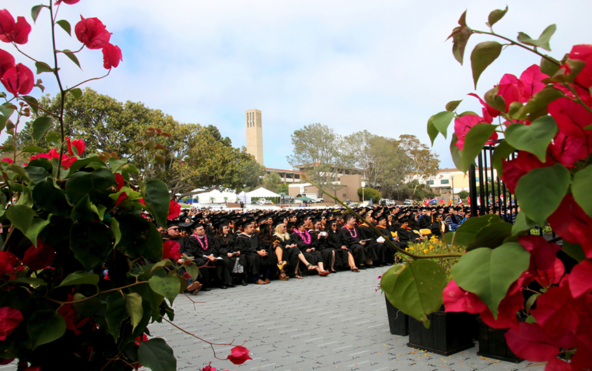 Graduates at the 2015 Graduate Division Commencement ceremony. Credit: Patricia Marroquin