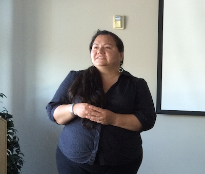 Delores Mondragon talks about her work with native veteran women and the return to indigenous forms of healing