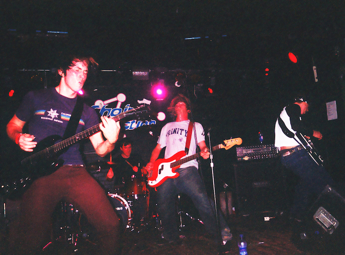 Brian J. Griffith , left, playing guitar with The Drive Home at Anaheim's Chain Reaction in 2003. Photo courtesy of Brian Griffith