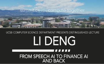 Li Deng Distinguished Lecture