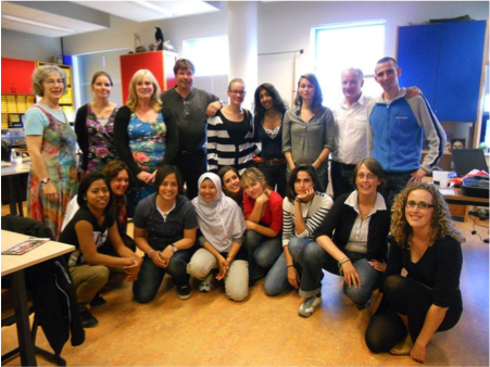 Noreen (front row, third from left) with classmates of an Alternative Pedagogies course in Utrecht, Netherlands.