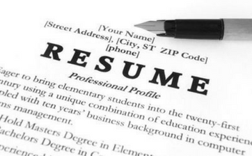 writing an academic resume
