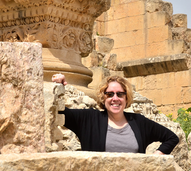 Dr. Robin Fleming traveled to Jerash, an important Roman city in modern-day Jordan, earlier this year. Dr. Fleming said, 'The survival of Roman remains in Britain is poor, so it is always interesting to compare evidence in Britain with what survives in other parts of the Roman world.'