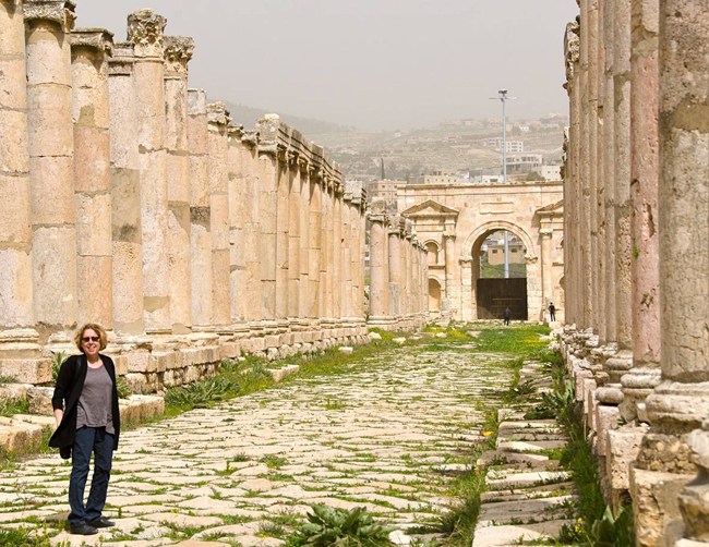 Dr. Robin Fleming's research focus is material culture and early medieval history. She visited Jerash in Jordan earlier this year.