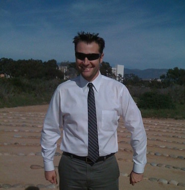 Ryan at the UCSB Labyrinth